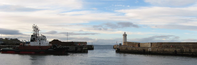 Buckie Harbour in Moray