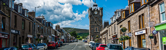 View of Dufftown in Aberdeenshire
