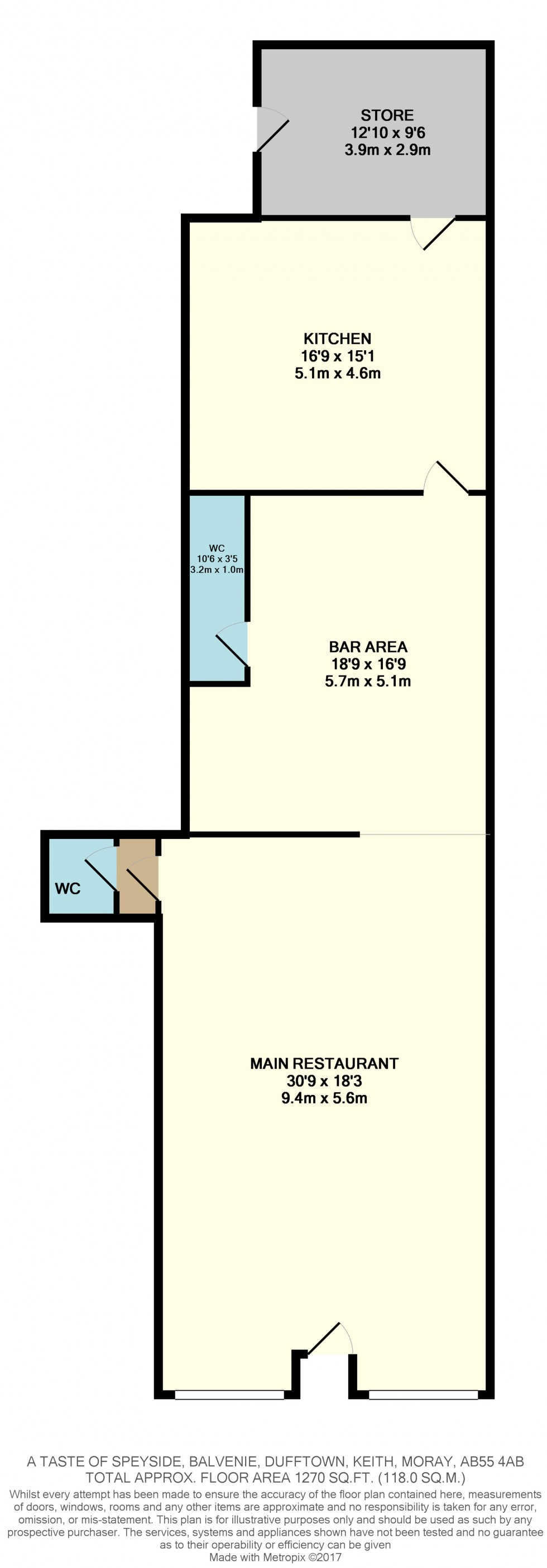 Floorplan for Balvenie Street, Dufftown, Keith, Moray